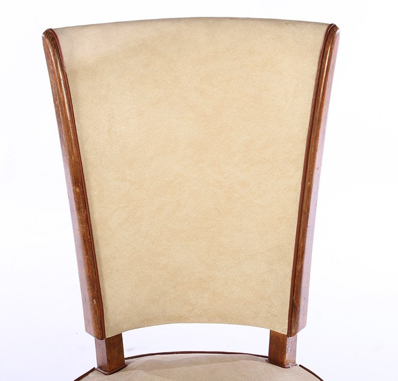 SET 6 FRENCH MID CENTURY DINING CHAIRS 1950 - 4
