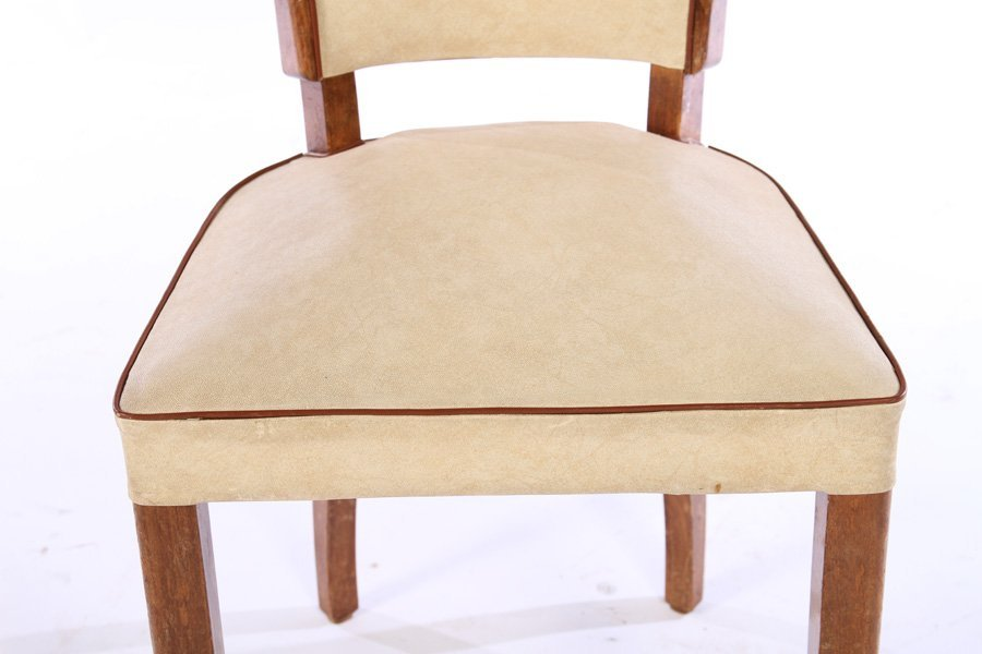 SET 6 FRENCH MID CENTURY DINING CHAIRS 1950 - 5