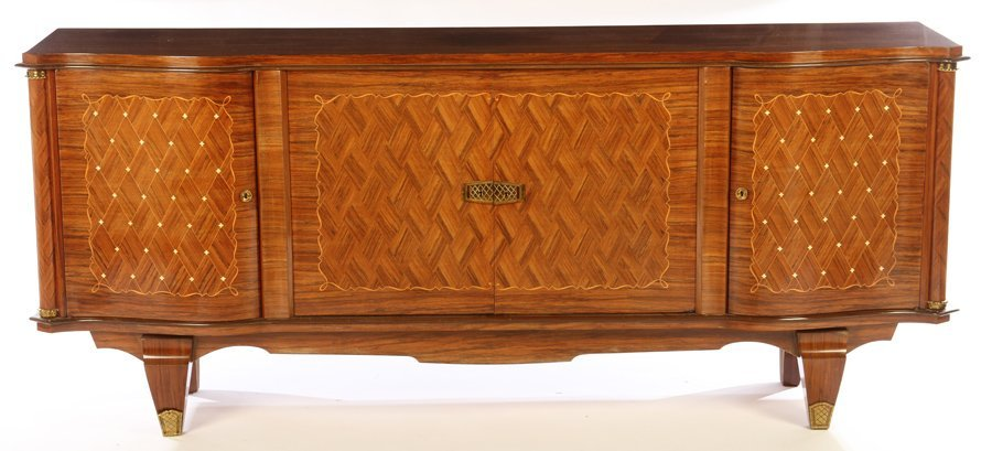 FRENCH INLAID SIDEBOARD MANNER OF LELEU 1940