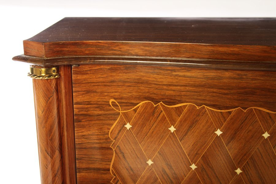 FRENCH INLAID SIDEBOARD MANNER OF LELEU 1940 - 3