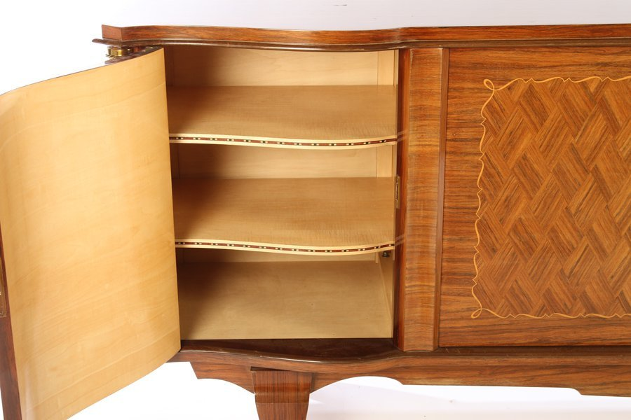 FRENCH INLAID SIDEBOARD MANNER OF LELEU 1940 - 4