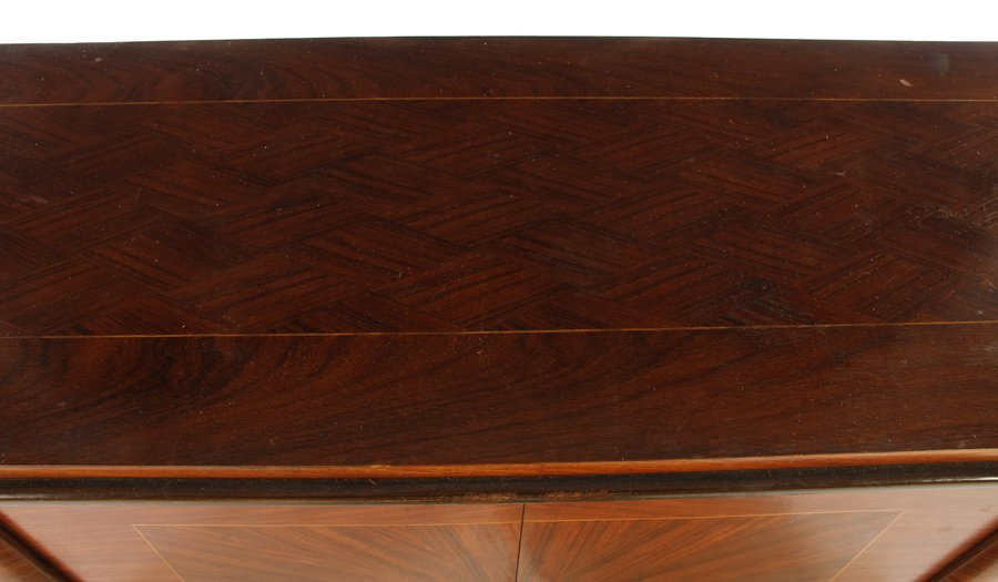 FRENCH SIDEBOARD JULES LELEU PARQUETRY TOP 1940 - 2