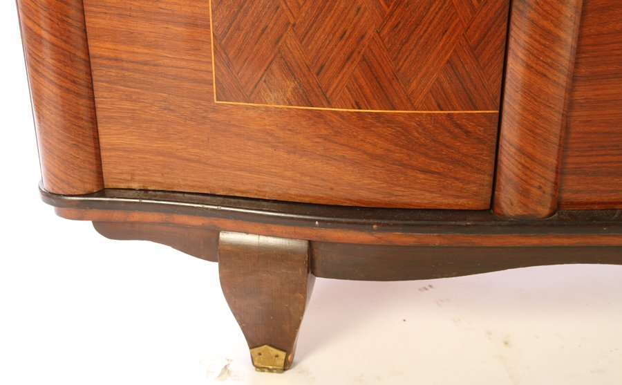 FRENCH SIDEBOARD JULES LELEU PARQUETRY TOP 1940 - 5