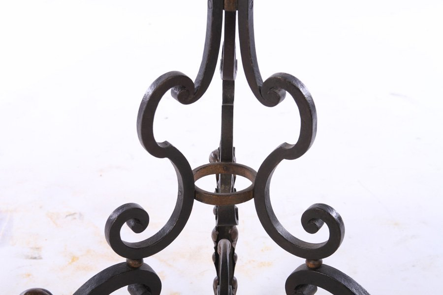 FRENCH WROUGHT IRON FLOOR LAMP RENE PROU C.1940 - 3