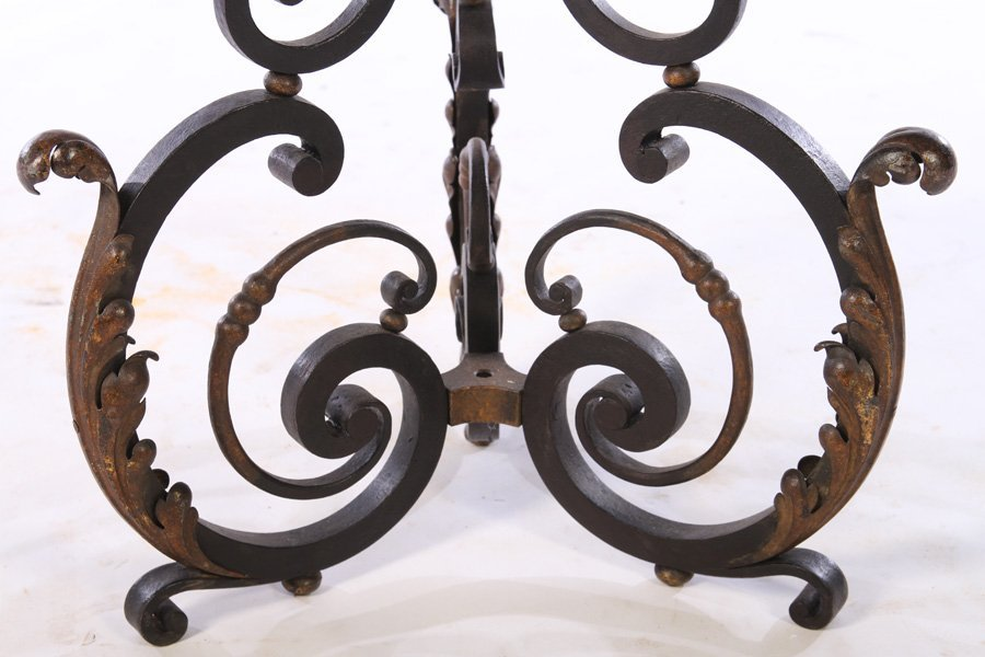 FRENCH WROUGHT IRON FLOOR LAMP RENE PROU C.1940 - 4