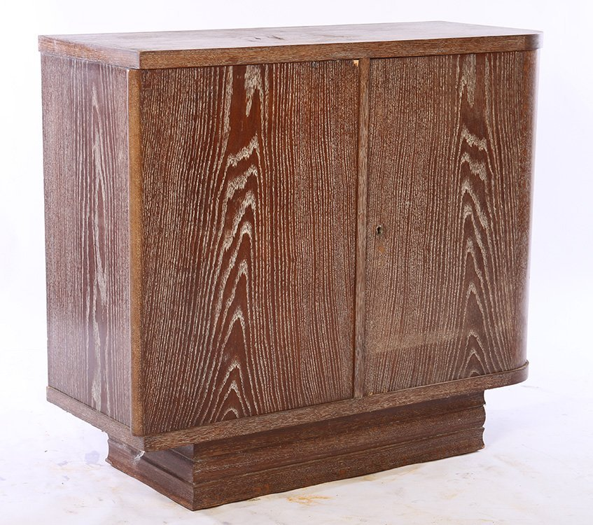 FRENCH CERUSED OAK BAR CABINET C.1940 - 2