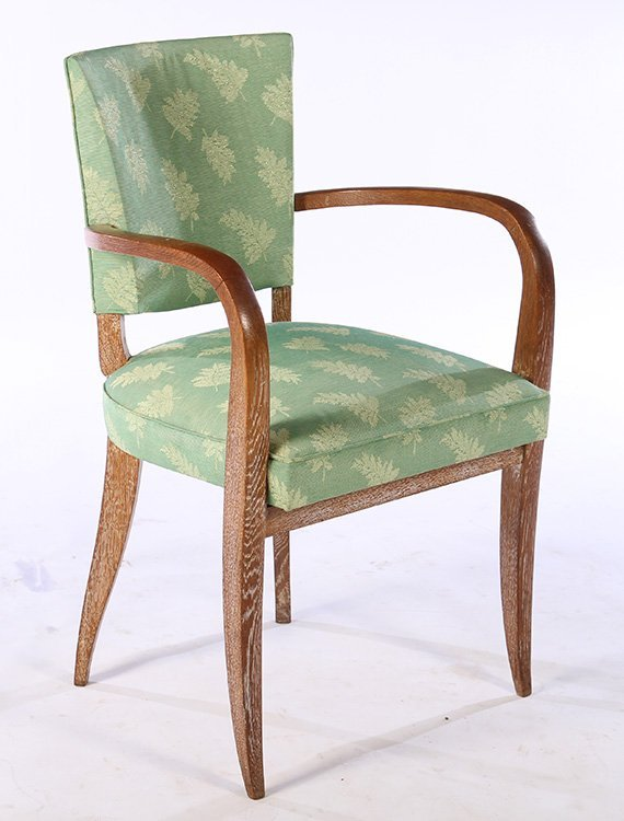 PAIR FRENCH CERUSED OAK ARM CHAIRS C.1940 - 2