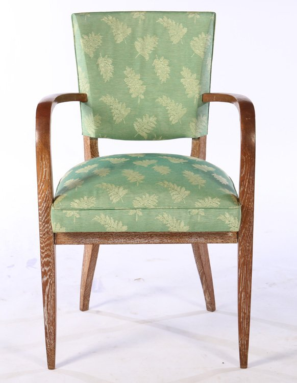 PAIR FRENCH CERUSED OAK ARM CHAIRS C.1940 - 3