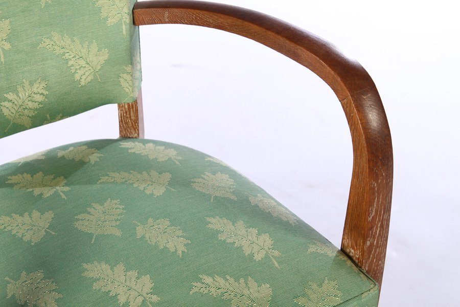 PAIR FRENCH CERUSED OAK ARM CHAIRS C.1940 - 5