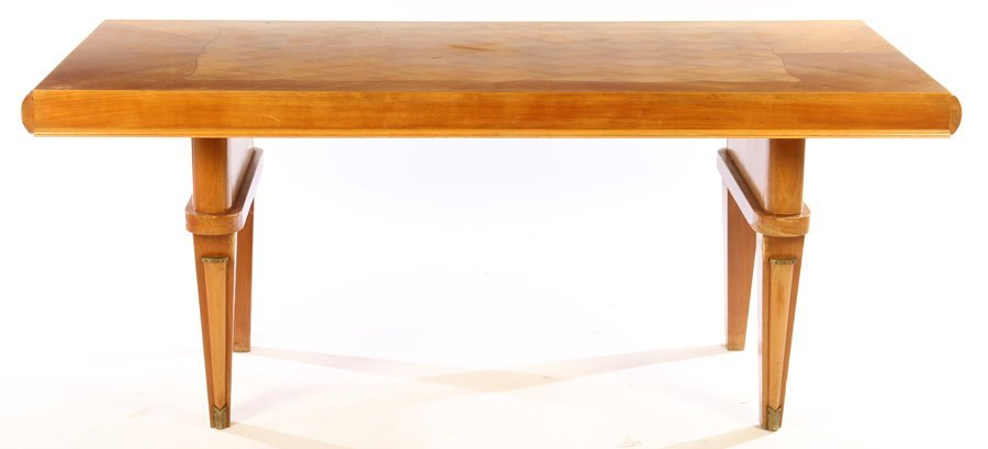 FRENCH DINING TABLE JULES LELEU INLAID TOP 1940 - 2