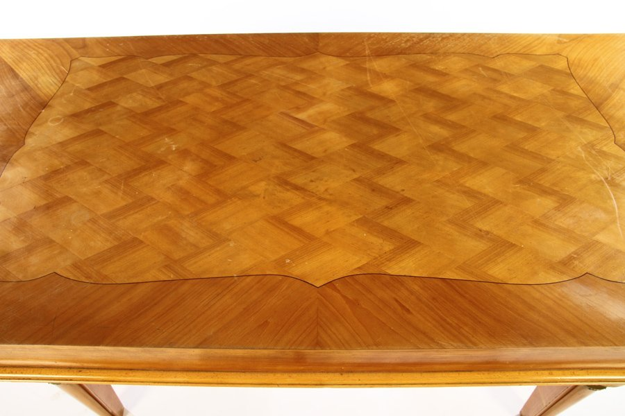 FRENCH DINING TABLE JULES LELEU INLAID TOP 1940 - 3