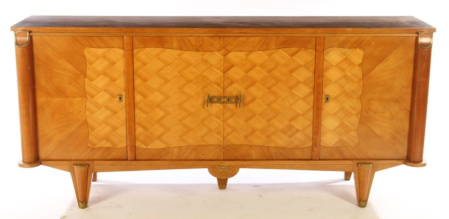 FRENCH MODERNIST SIDEBOARD 4 INLAID DOORS 1940