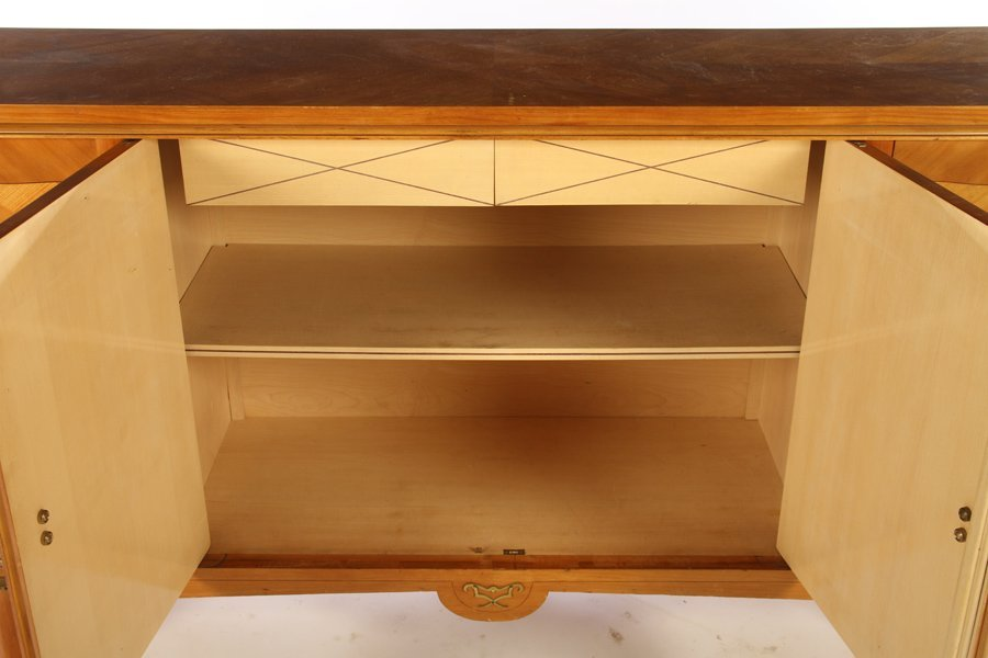 FRENCH MODERNIST SIDEBOARD 4 INLAID DOORS 1940 - 5