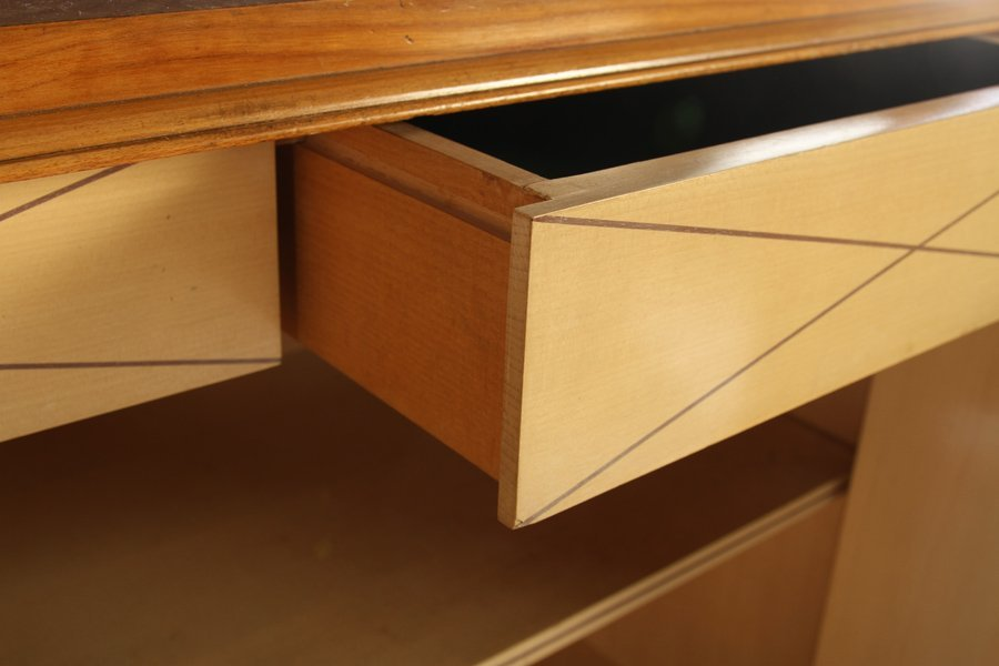 FRENCH MODERNIST SIDEBOARD 4 INLAID DOORS 1940 - 6