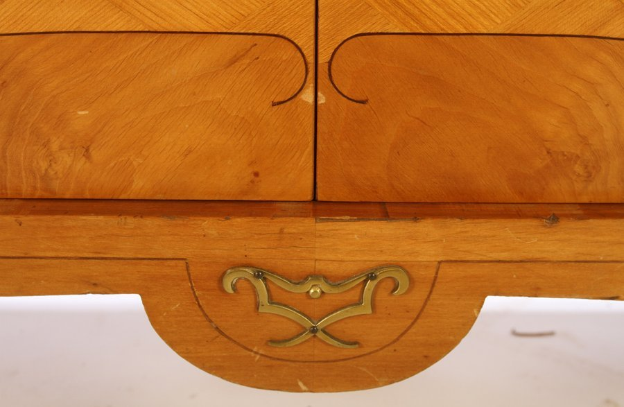 FRENCH MODERNIST SIDEBOARD 4 INLAID DOORS 1940 - 7