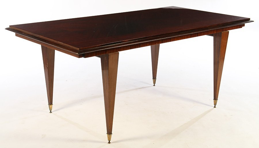 FRENCH MACASSAR PARQUETRY DINING TABLE  1940