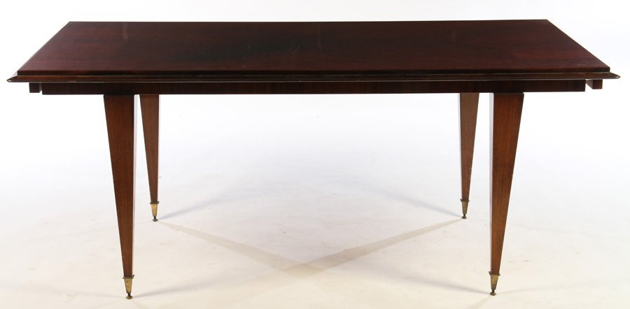 FRENCH MACASSAR PARQUETRY DINING TABLE  1940 - 2