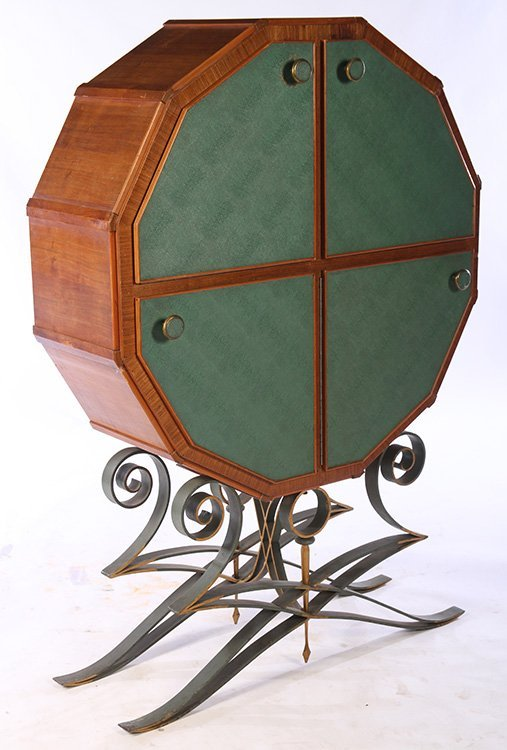 FRENCH 12-SIDED BAR CABINET C.1940 - 2