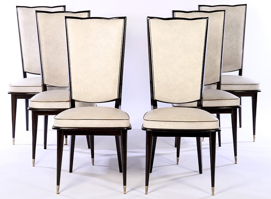 ITALIAN MID CENTURY DINING CHAIRS UPHOLSTERED