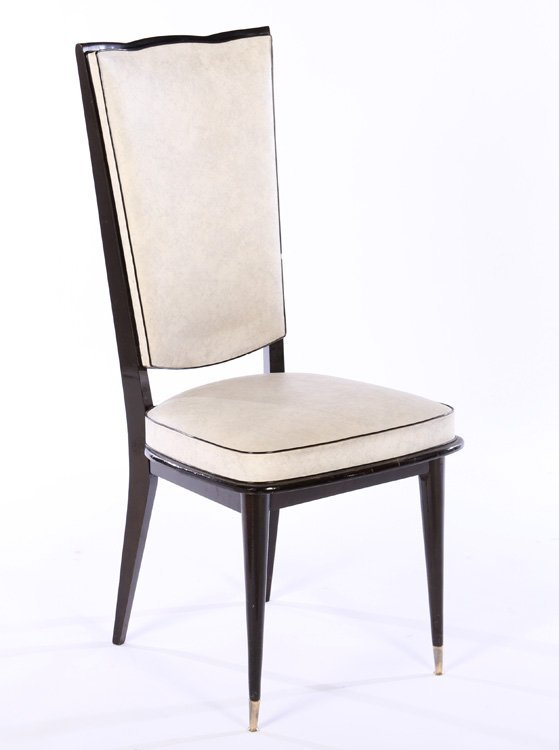 ITALIAN MID CENTURY DINING CHAIRS UPHOLSTERED - 2