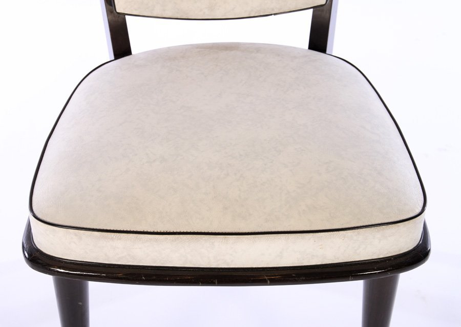 ITALIAN MID CENTURY DINING CHAIRS UPHOLSTERED - 5