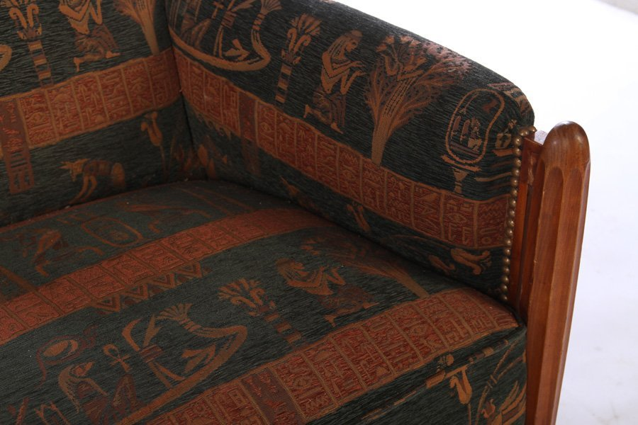 FRENCH ART DECO SETTEE CURVED BACK FLUTED LEGS - 4