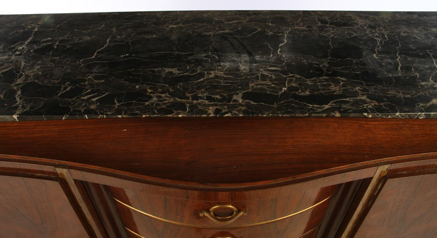 FRENCH ART DECO SIDEBOARD INSET MARBLE TOP 1930 - 2