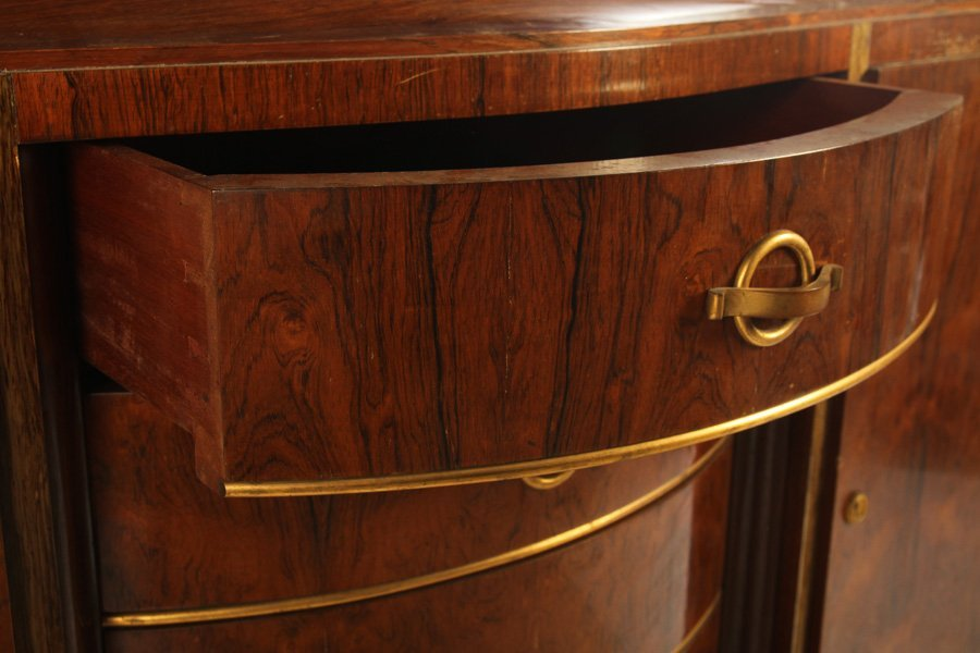 FRENCH ART DECO SIDEBOARD INSET MARBLE TOP 1930 - 3