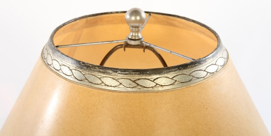 PAIR ART DECO CAST ALUMINUM TABLE LAMPS - 3