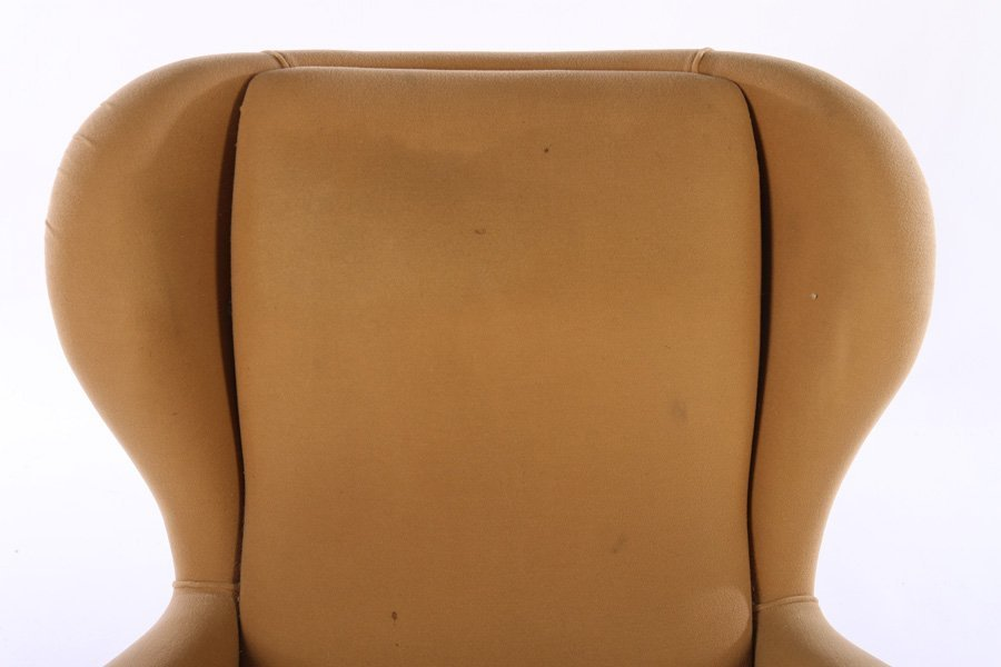PAIR UPHOLSTERED ITALIAN CLUB CHAIRS 1950 - 4