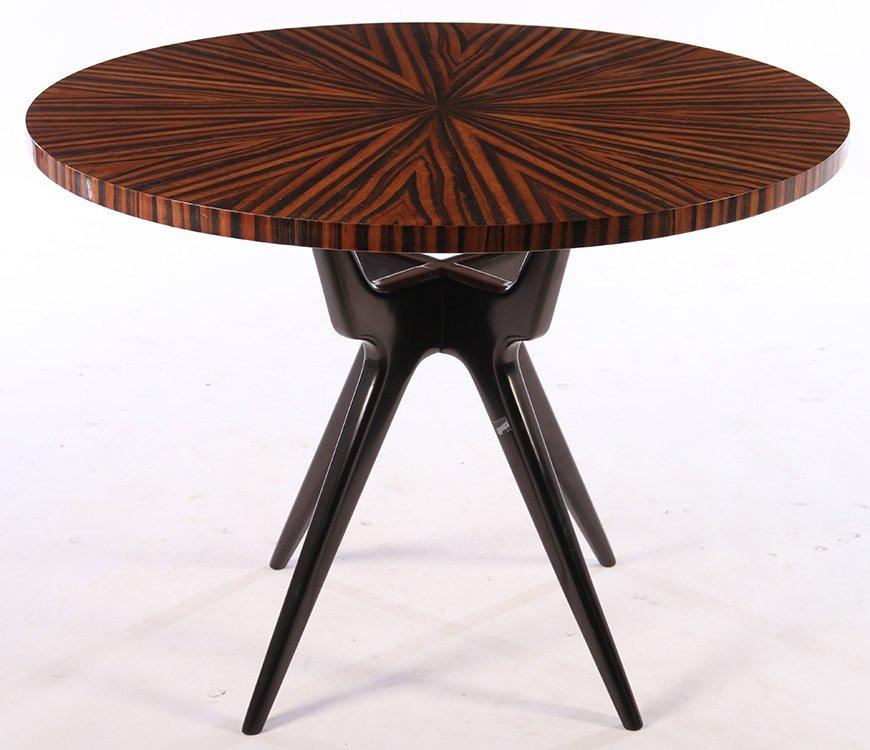 ITALIAN PEDESTAL TABLE ROSEWOOD TOP 1950