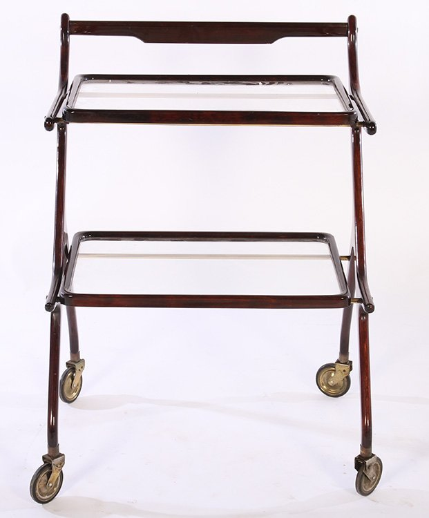 TWO TIER ITALIAN SERVING CART REMOVABLE TRAY 1950 - 2