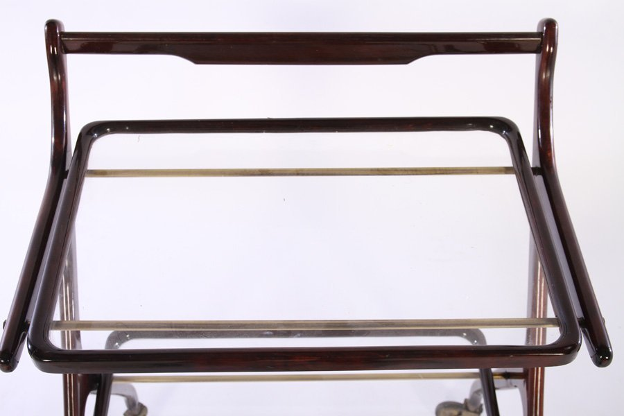 TWO TIER ITALIAN SERVING CART REMOVABLE TRAY 1950 - 3