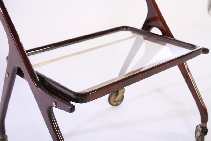 TWO TIER ITALIAN SERVING CART REMOVABLE TRAY 1950 - 4