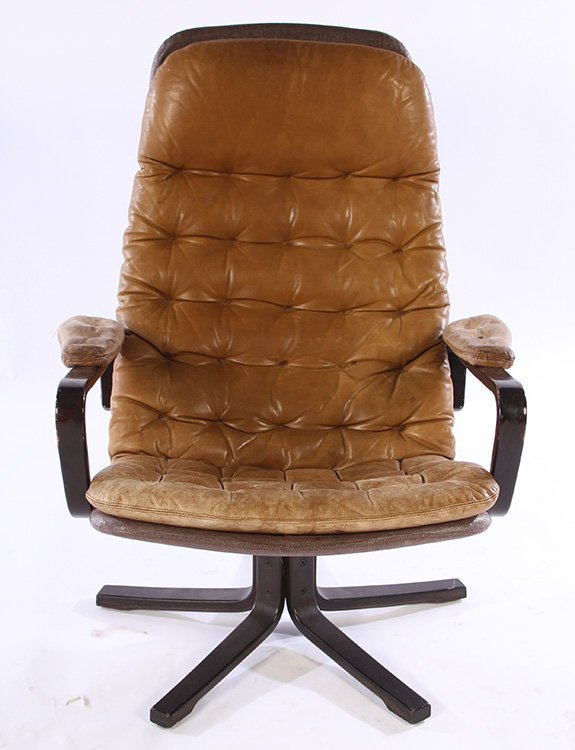 PAIR OF MID CENTURY MODERN LEATHER CHAIRS C.1970 - 2