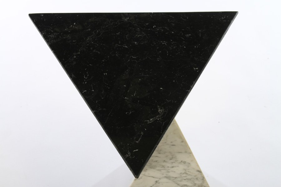 2 COLOR MARBLE PEDESTAL INTERCONNECTING PYRAMIDS - 2