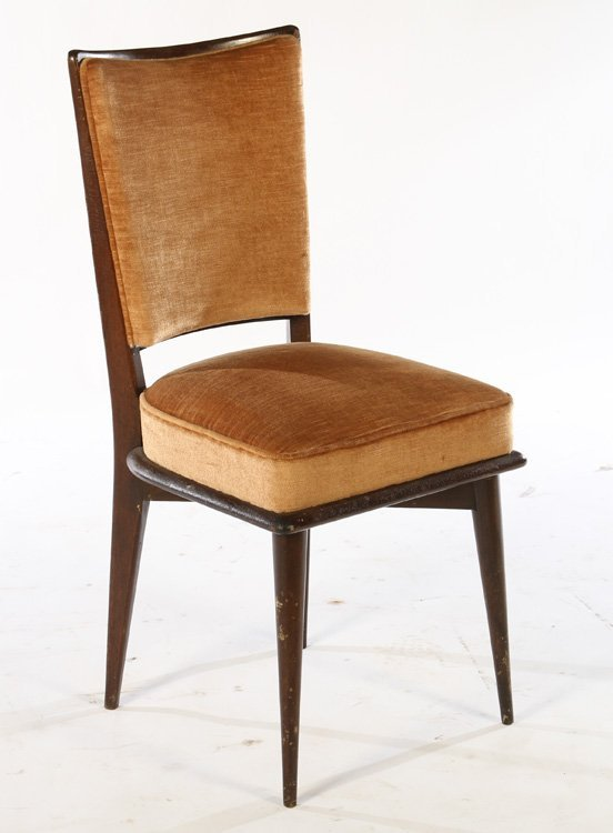 SET OF 8 FRENCH MID CENTURY DINING CHAIRS 1940 - 2