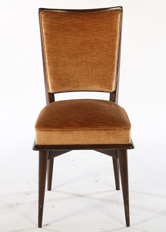 SET OF 8 FRENCH MID CENTURY DINING CHAIRS 1940 - 3