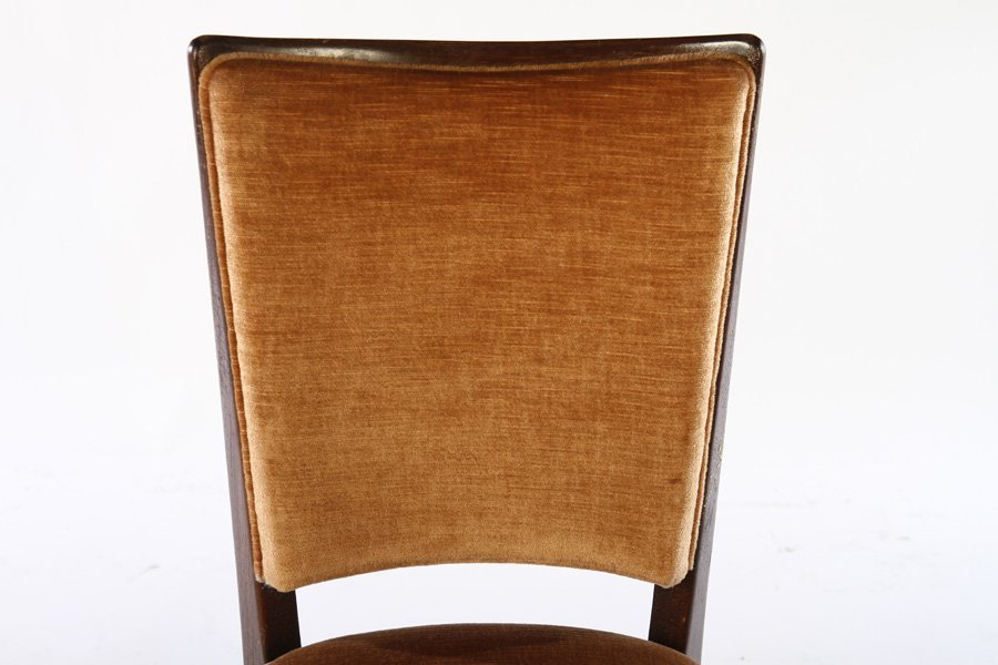 SET OF 8 FRENCH MID CENTURY DINING CHAIRS 1940 - 4