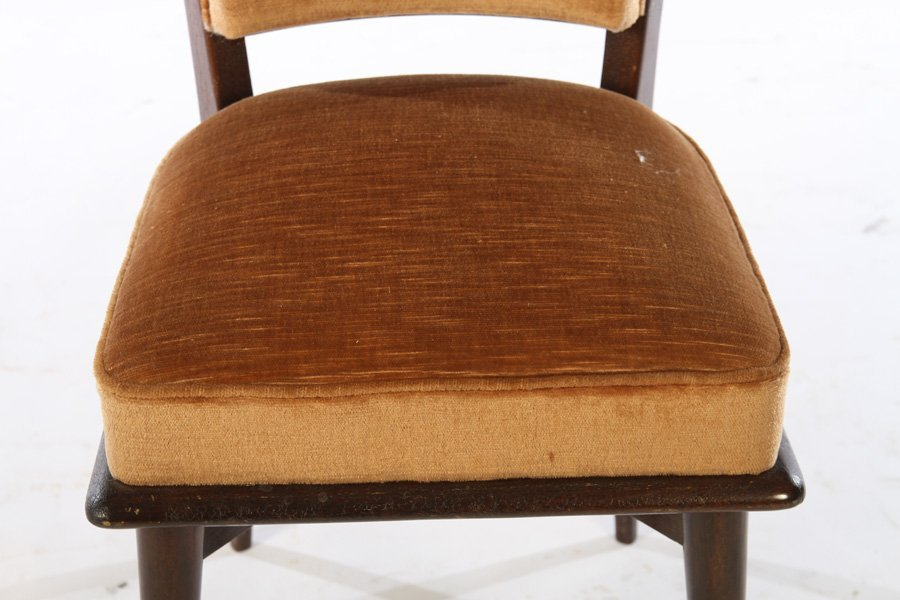 SET OF 8 FRENCH MID CENTURY DINING CHAIRS 1940 - 5