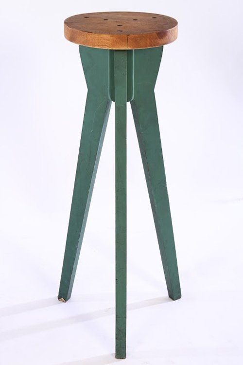 PAIR OF JEAN PROUVE STYLE BAR STOOLS - 2