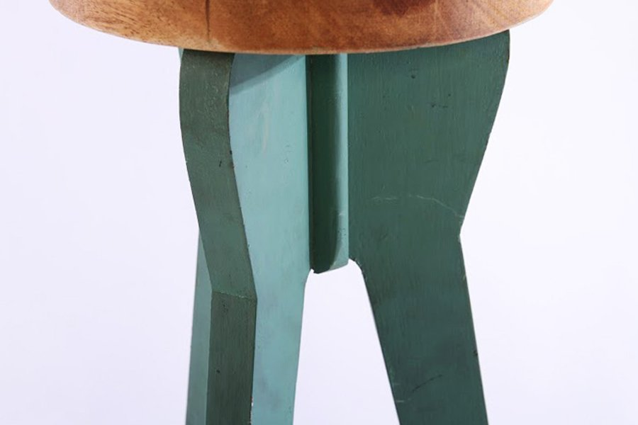 PAIR OF JEAN PROUVE STYLE BAR STOOLS - 4