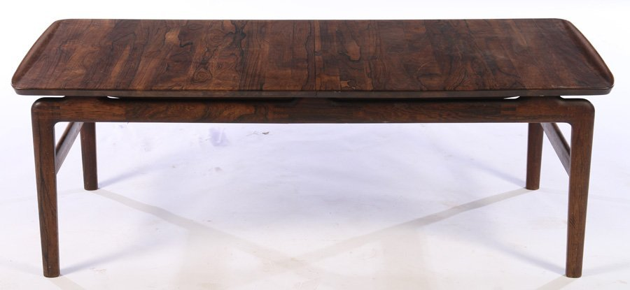 DANISH LABELED ROSEWOOD COFFEE TABLE 1970 - 2