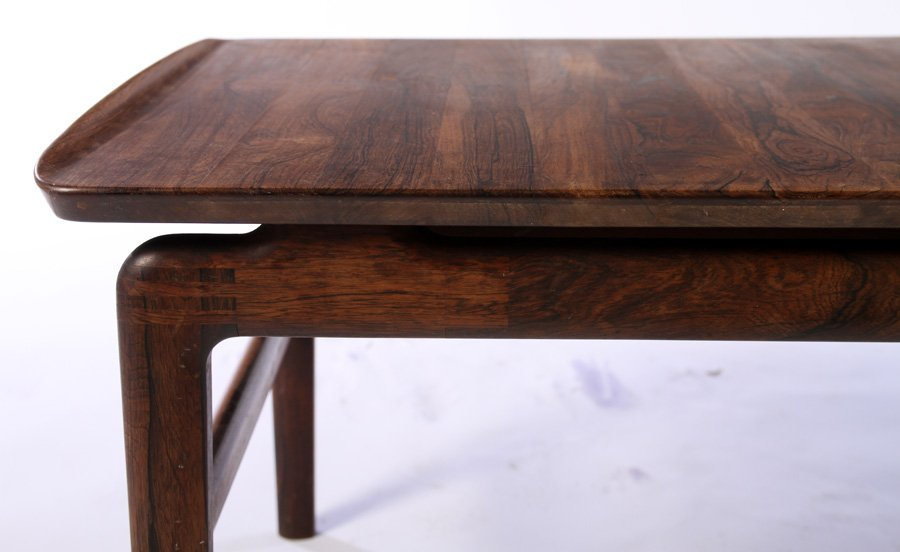 DANISH LABELED ROSEWOOD COFFEE TABLE 1970 - 4