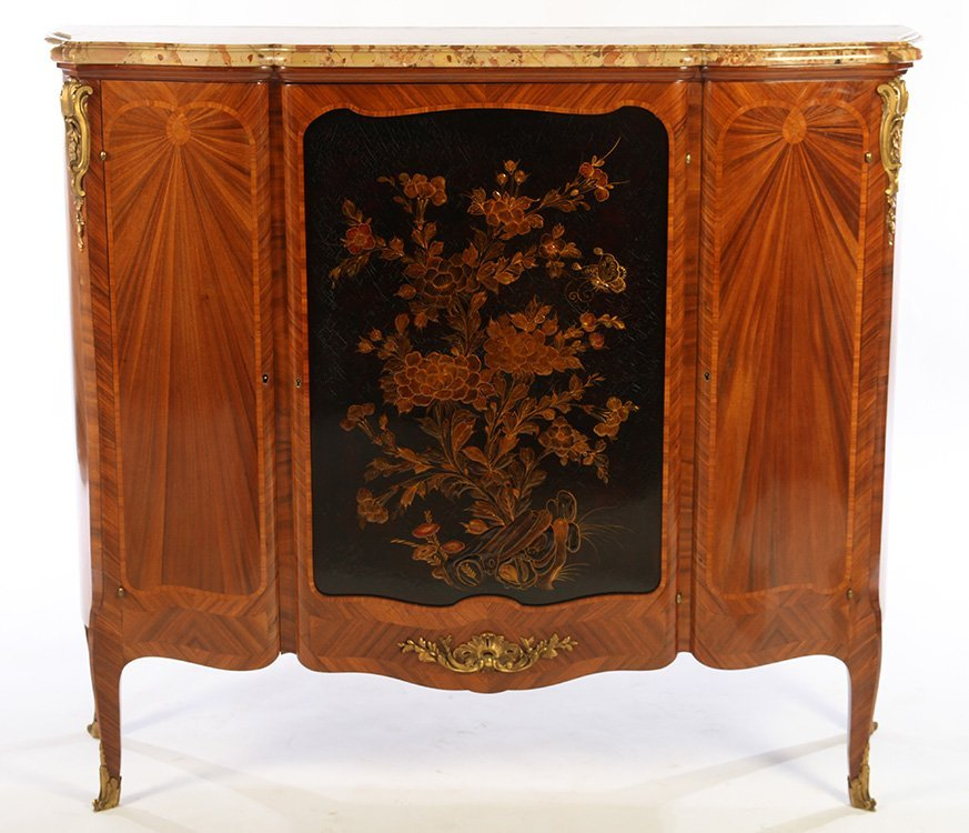 FRENCH SATINWOOD INLAID CABINET 1900