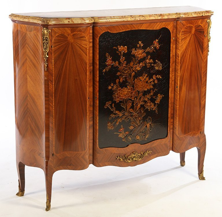 FRENCH SATINWOOD INLAID CABINET 1900 - 2