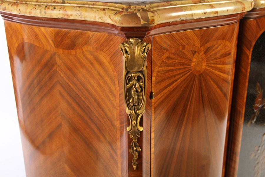 FRENCH SATINWOOD INLAID CABINET 1900 - 4