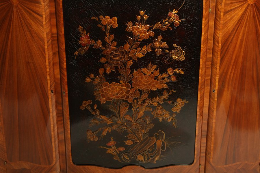 FRENCH SATINWOOD INLAID CABINET 1900 - 5