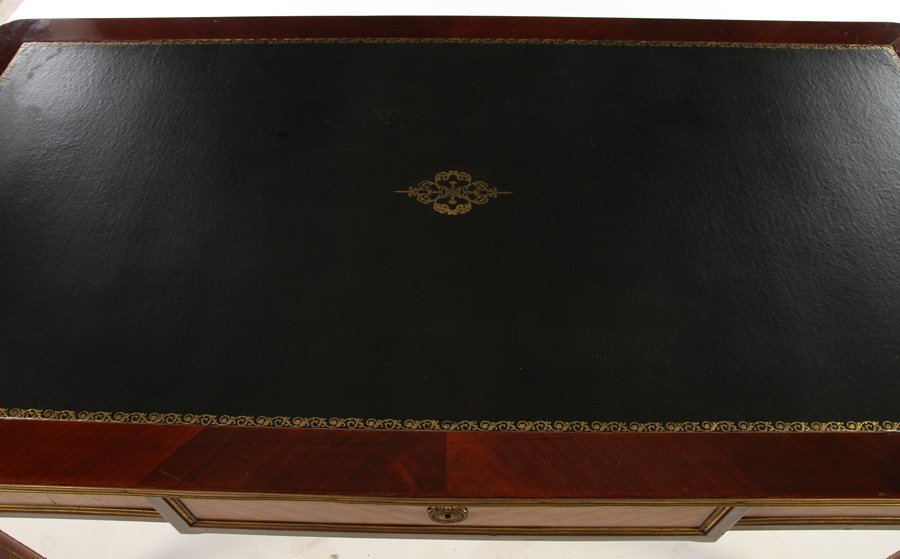 DIRECTOIRE STYLE BRONZE MOUNTED DESK LEATHER TOP - 3
