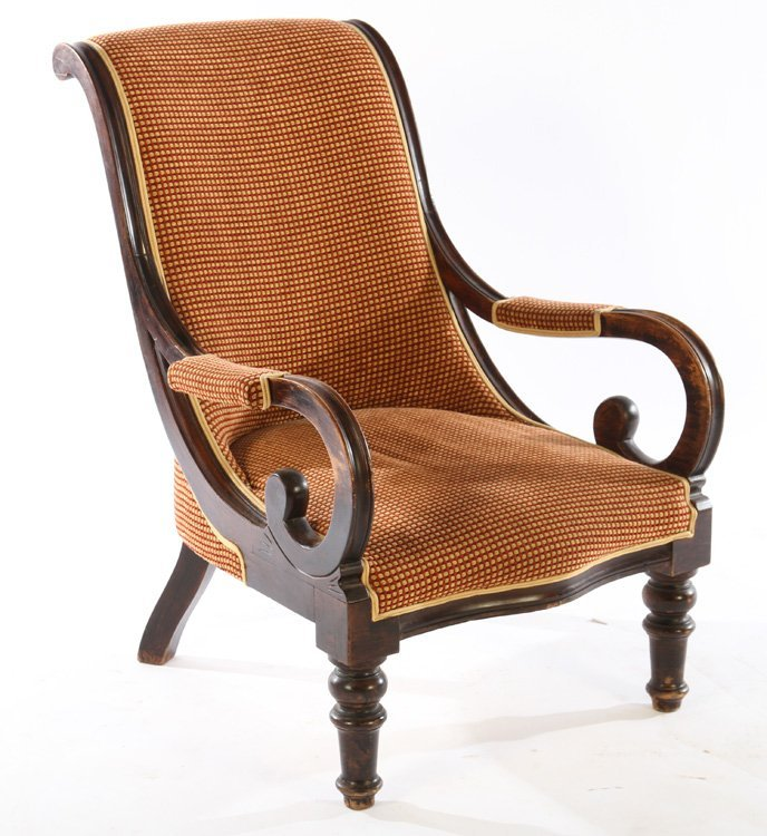 PAIR FRENCH CAMPECHE CHAIRS OPEN ARMS - 2